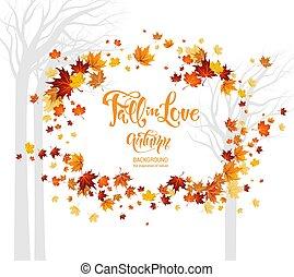 Fall in love leaves