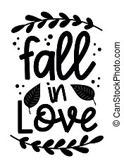 Fall in love phrase with leaves