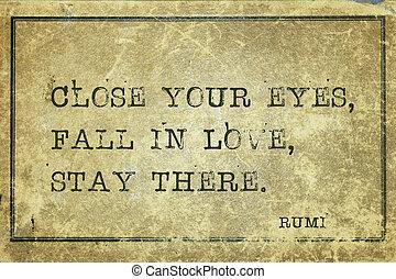 fall in love Rumi