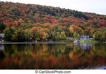 Fall in Muskoka Ontario On Lake of Bays
