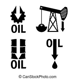 fall in oil prices set vector design template