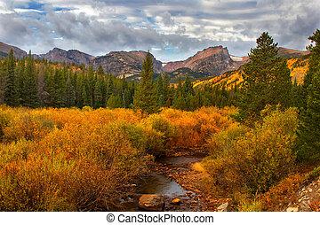 Fall in Rocky Mountain National Park - A river runs through...