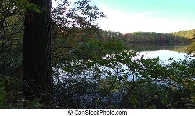 fall lake pan