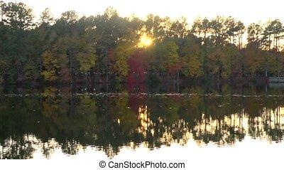 fall lake time lapse