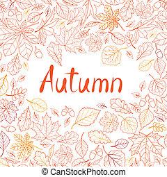 Fall leaf nature seamless pattern. Autumn leaves background. Sea