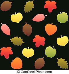 Fall Leafs Pattern Background Green
