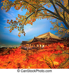 Fall Leaves at Clear Water Temple