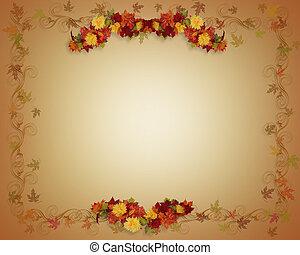 Fall Leaves Autumn card - Illustrated Fall leaves Autumn...