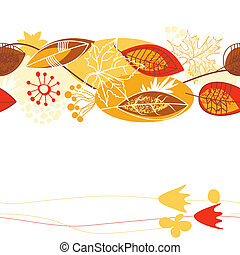 Fall leaves background (seamless pattern)