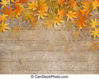 Fall leaves border - autumn design