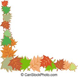 fall leaves border - fall leaves corner border