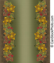 Fall leaves border template
