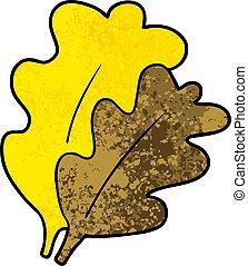fall leaves cartoon