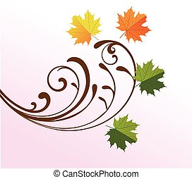 fall leaves - fall background