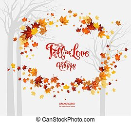 Fall leaves frame