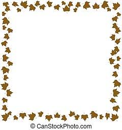 Fall leaves frame vector