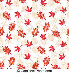 Fall leaves seamless pattern.