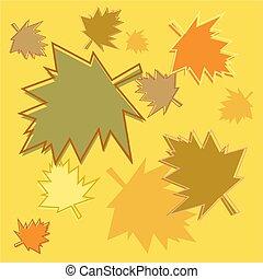 fall leaves tile