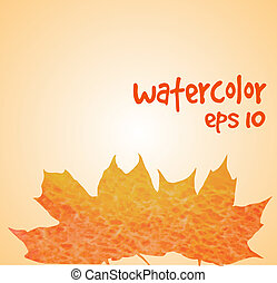 fall leaves watercolor border