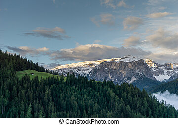 fall mountain landscape in the Dolomites