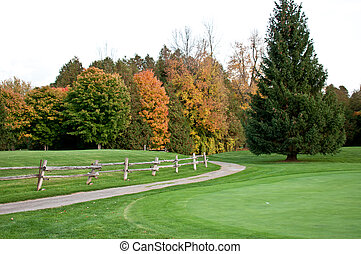 Fall on the golfcourse