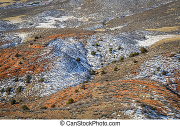 fall or winter scenery in Red Mountain Open Space in ...