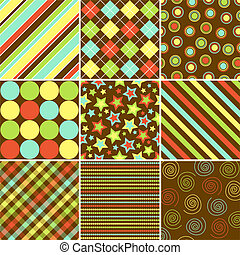 Fall Patterns - Set of nine patterns in Fall Colors