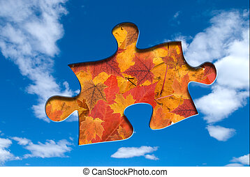 Fall puzzle piece