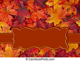 Fall range leaf border with copy space