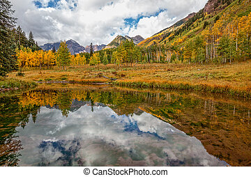 Fall Reflection of Maroon Bells
