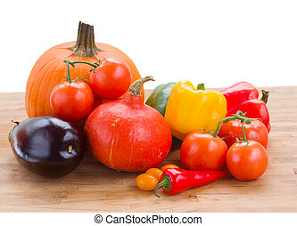 fall ripe of vegetables