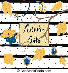 Fall Sale Card. Advertising
