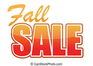 fall sale illustration design