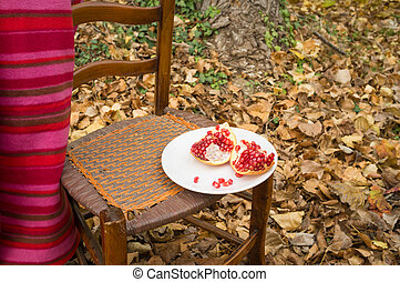 Fall scene with fruit