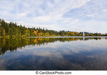 fall scenery shot at day time in vancouver canada