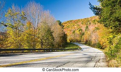 Fall scenic highway