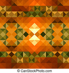 Fall season triangle seamless pattern background. EPS10 file.