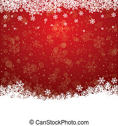 fall snow stars red white background