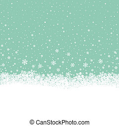 snowflake snow stars green white background