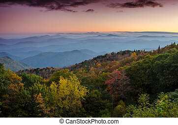 Fall Sunset the Blue Ridge Parkway