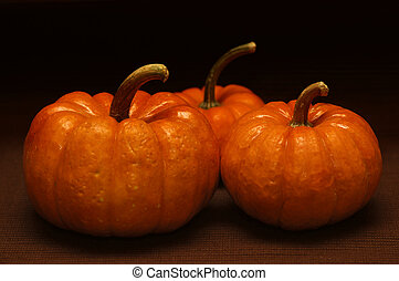 Fall - Three pumpkin