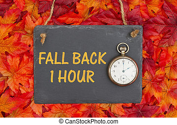Fall Time Change message