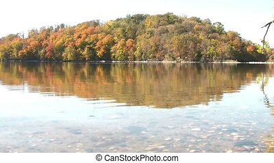 Fall Vacation at the Lake - Walking Through Water