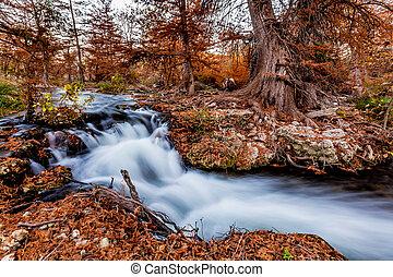 Fall Waterfall in Texas
