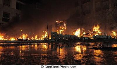 Falla burning out on La Crema night - La Crema on Fallas ...