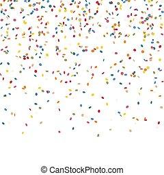 fallande konfetti, ändlös
