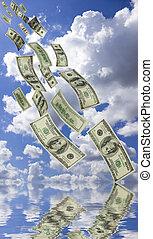 fallande pengar