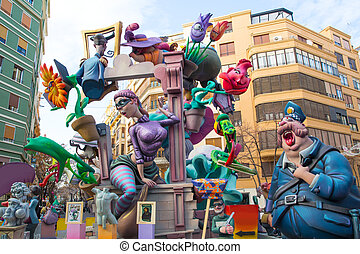 Fallas is a popular fest in Valencia Spain with figures that...