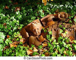Fallen Angel - Architectural Detail of fallen cherub from...