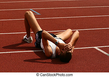 Fallen athlete - Athlete after finish